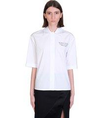 off-white baseball shirt in white cotton