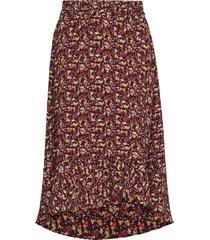 kaeliw skirt lång kjol brun inwear