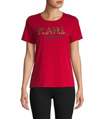 beaded logo short-sleeve tee