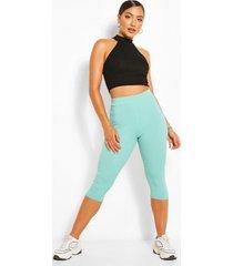 cropped jumbo rib high waist leggings, mint