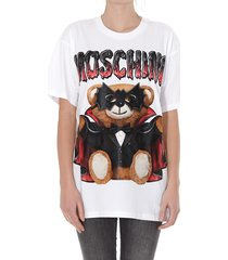 moschino bat teddy bear logo t-shirt