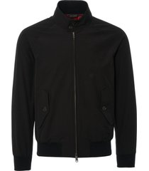 baracuta g9 black harrington jacket | black | brcps0001