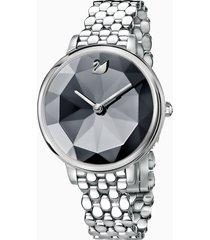 orologio crystal lake, bracciale di metallo, grigio scuro, acciaio inossidabile
