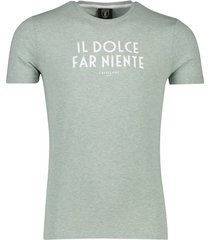 t-shirt mintgroen melange cavallaro ariosto