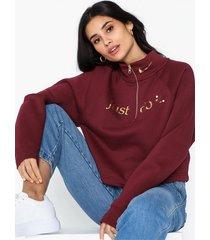 nike w nsw funnel 1/2 zip bb shine sweatshirts