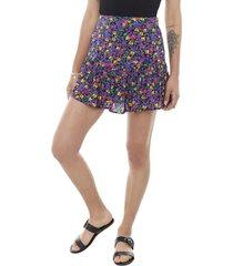 short falda morado flores mujer corona