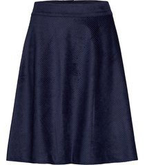 drapy corduroy stelly c knälång kjol blå mads nørgaard