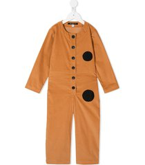 owa yurika contrast circles jumpsuit - orange