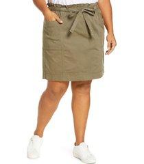 plus size women's caslon tie front utility skirt