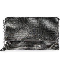 la regale women's structured flap crossbody bag - gunmetal