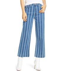 women's 7 for all mankind alexa high waist crop wide leg jeans