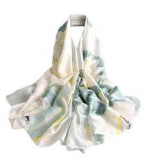 pashmina echarpe lenço artestore 180x90 floral tons feminino