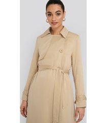 na-kd classic mac trench coat - beige