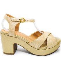 zapato tacon femenino 18a38 jamin oro blanco*torino
