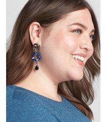 lane bryant women's resin link drop earrings onesz night sky