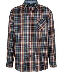 overhemd roger kent blauw::multicolor
