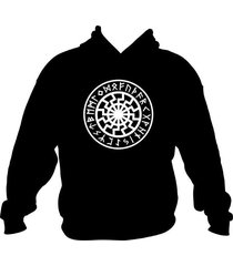 black sun sonnenrad futhark hoodie hooded sweatshirt asatru tyr odin thor viking