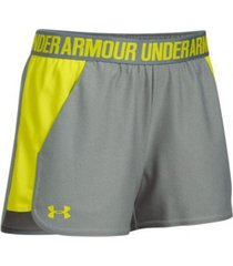 shorts gris  under armour  play up short 2.0  mujer