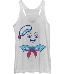 fifth sun ghostbusters women's stay puft marshmallow man costume tri-blend tank top
