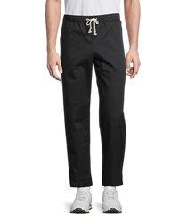 champion men's drawstring ankle-length pants - black - size xl