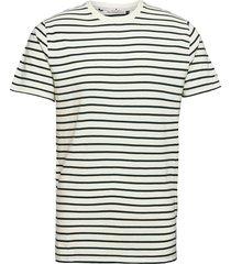 cotton t-shirt with large distance stripe t-shirts short-sleeved vit revolution