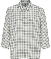 opus geruite blouse fudo