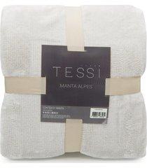 manta cationic blanket queen 2,20m x 2,40m 300g/m² - tessi - caqui
