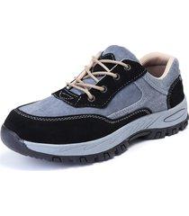 puntali in acciaio per uomo scarpe antinfortunistiche antinfortunistiche in vernice antitraccia