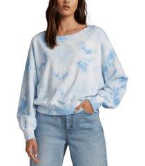 billabong juniors' lazy way tie-dyed sweatshirt