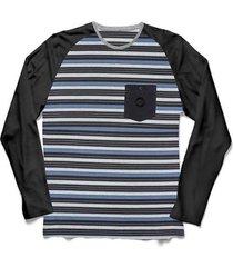 camiseta nicoboco manga longa jacquard devs masculina - masculino