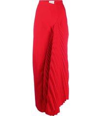a.w.a.k.e. mode asymmetric maxi skirt - red