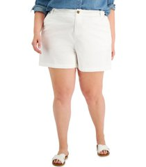 style & co plus size flutter shorts, created for macy's