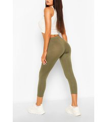 deep high waist cropped legging, khaki