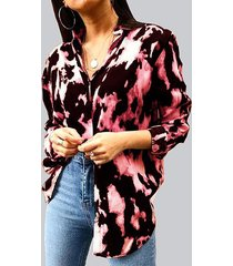 button diseño tie dye classic blusa manga larga cuello
