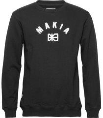 brand sweatshirt sweat-shirt trui zwart makia