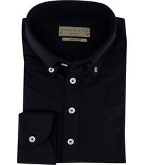 mouwlengte 7 john miller overhemd zwart slim fit