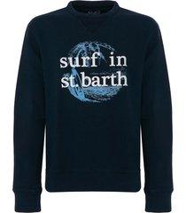 mc2 saint barth blue navy sweatshirt surf in st. barth