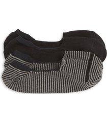 men's nordstrom men's shop 2-pack loafer liner socks, size one size - black