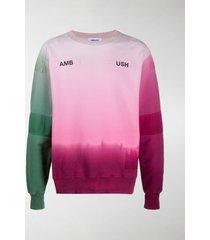 ambush logo-print ombré sweatshirt