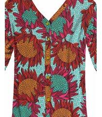 camisa manga 3/4 estampada protea color - lez a lez