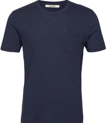 stockholm cotton slub t-shirts short-sleeved blå zadig & voltaire