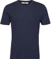 stockholm slub t-shirts short-sleeved blå zadig & voltaire