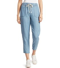 rails women's graham chambray pants - medium vintage - size l