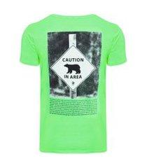 camiseta masculina bear - verde