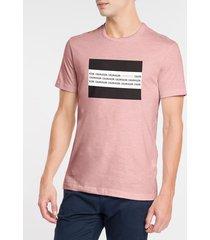 camiseta masculina slim flag rosa claro calvin klein - pp