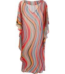 paul smith swirl tunic dress - pink