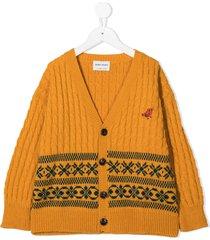 bobo choses chunky knitted cardigan - yellow