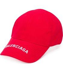 balenciaga logo-embroidered cap
