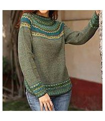 100% alpaca sweater, 'inca valley' (peru)
