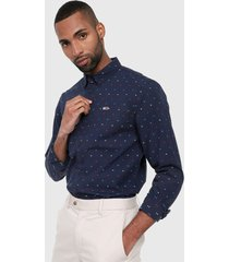 camisa azul-multicolor tommy jeans